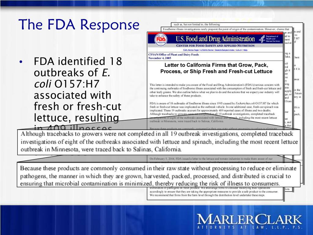 The FDA Response