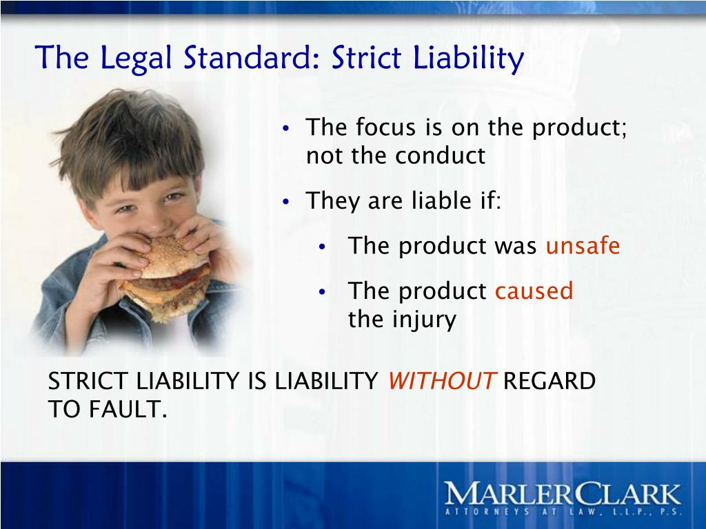 The Legal Standard: Strict Liability