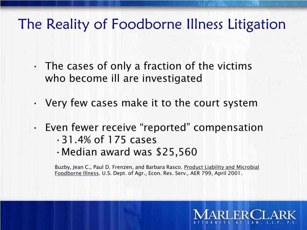 The Reality of Foodborne Illness Litigation