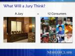 what will a jury think