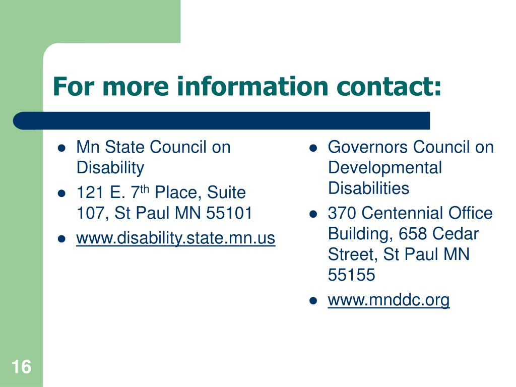 Mn State Council on Disability