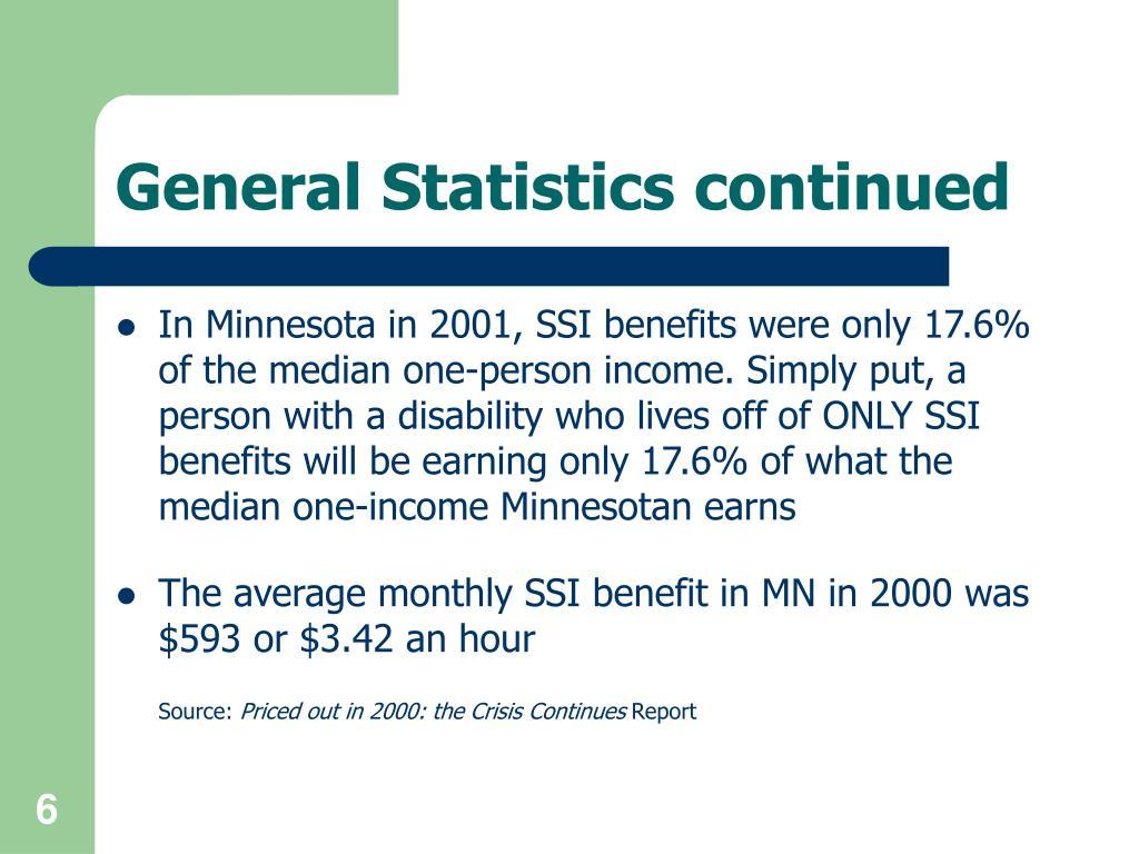 General Statistics continued