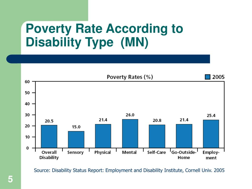 Poverty Rate According to Disability Type  (MN)