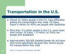 transportation in the u s