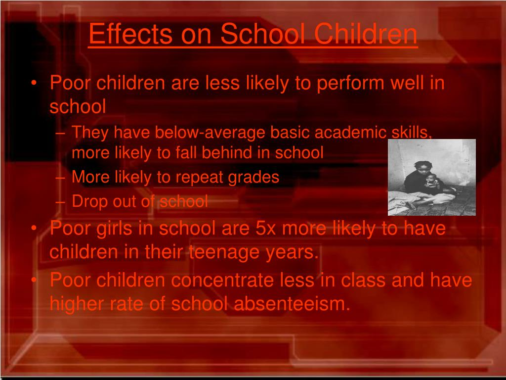 Effects on School Children