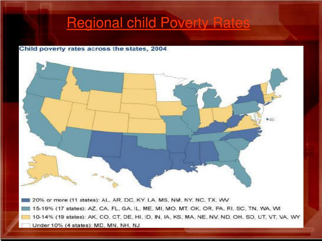Regional child Poverty Rates