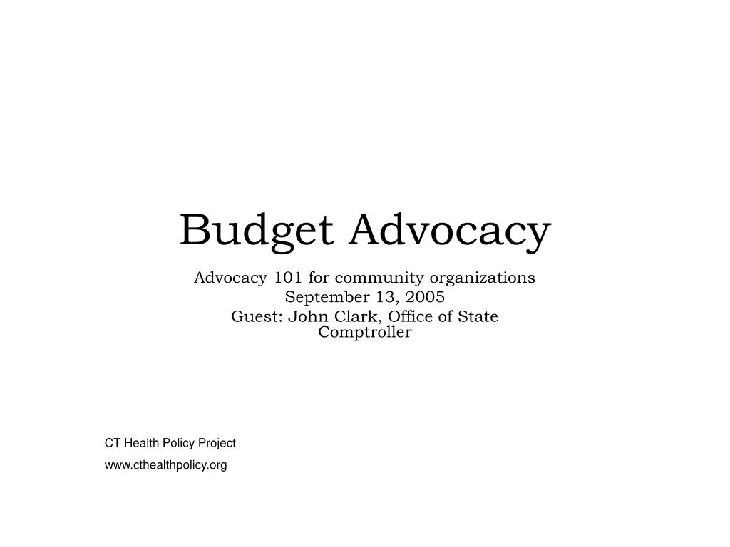 budget advocacy