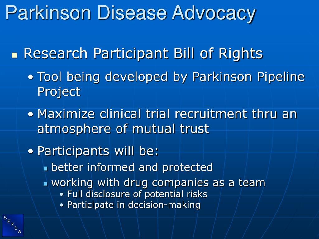Parkinson Disease Advocacy