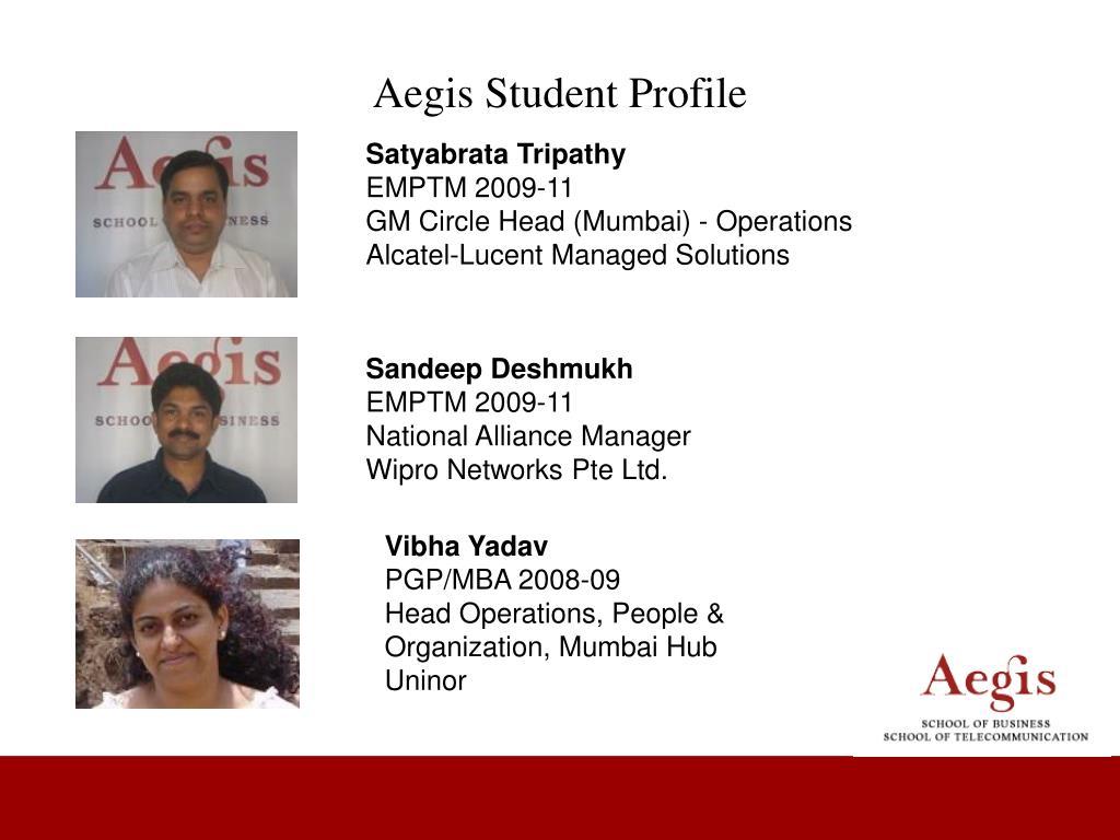 Aegis Student Profile
