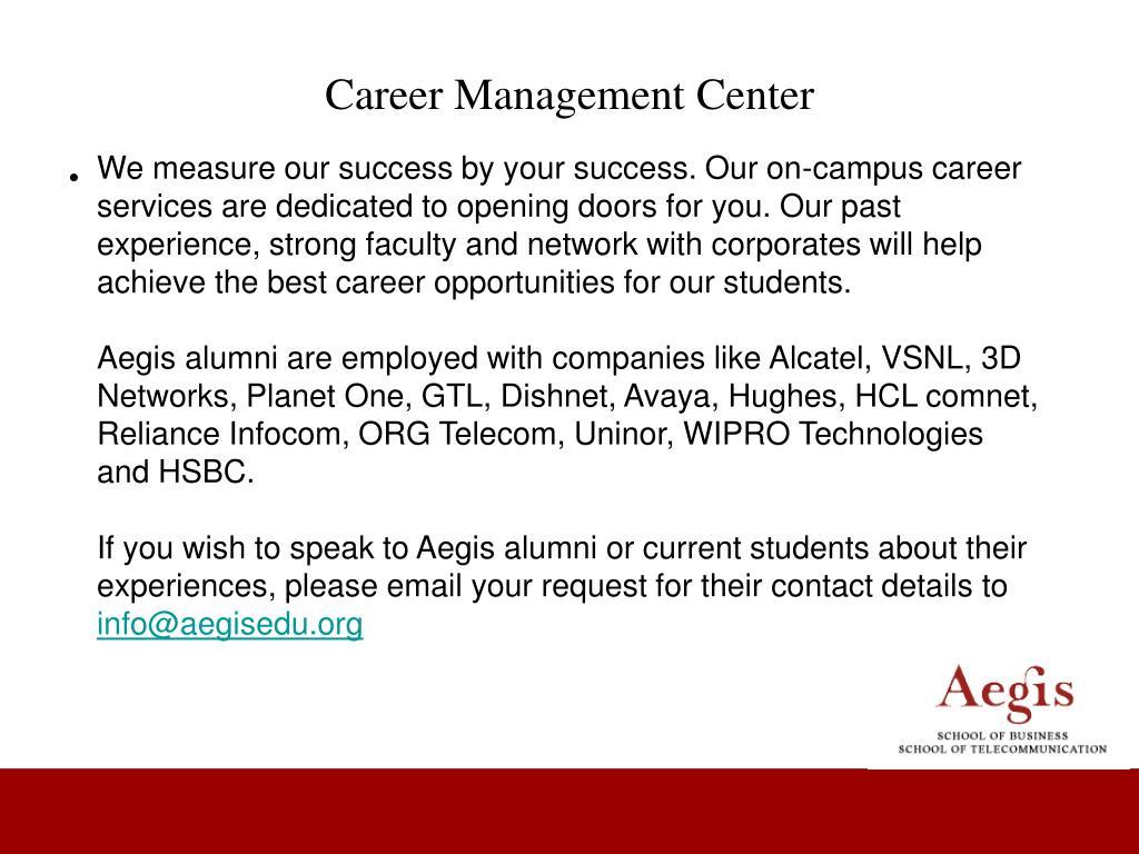 Career Management Center