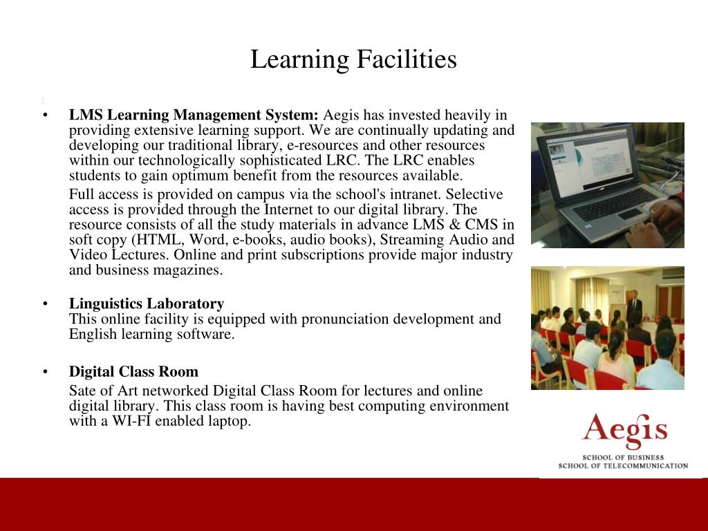 Learning Facilities