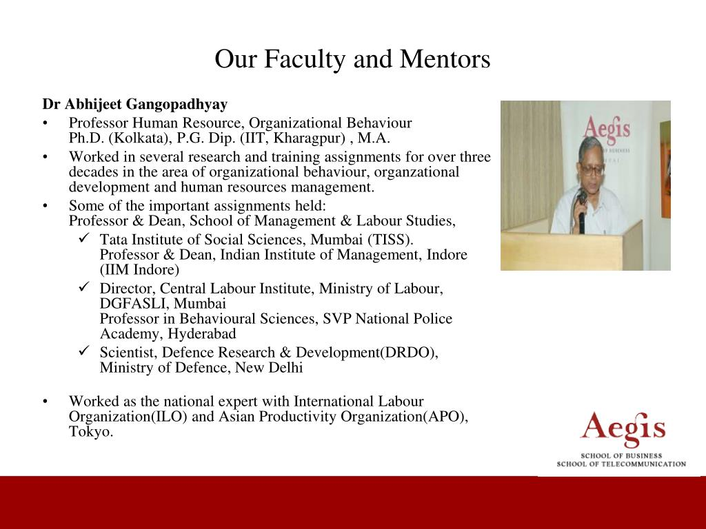 Our Faculty and Mentors
