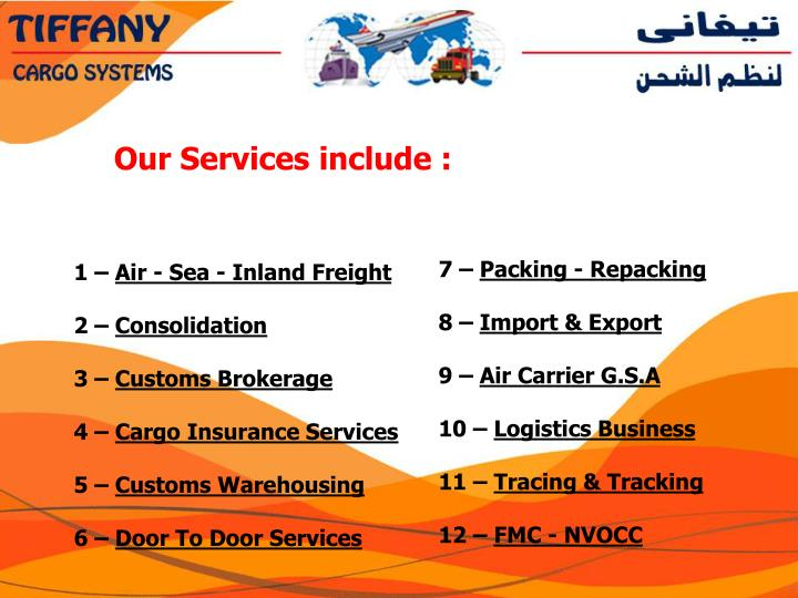 Our Services include :