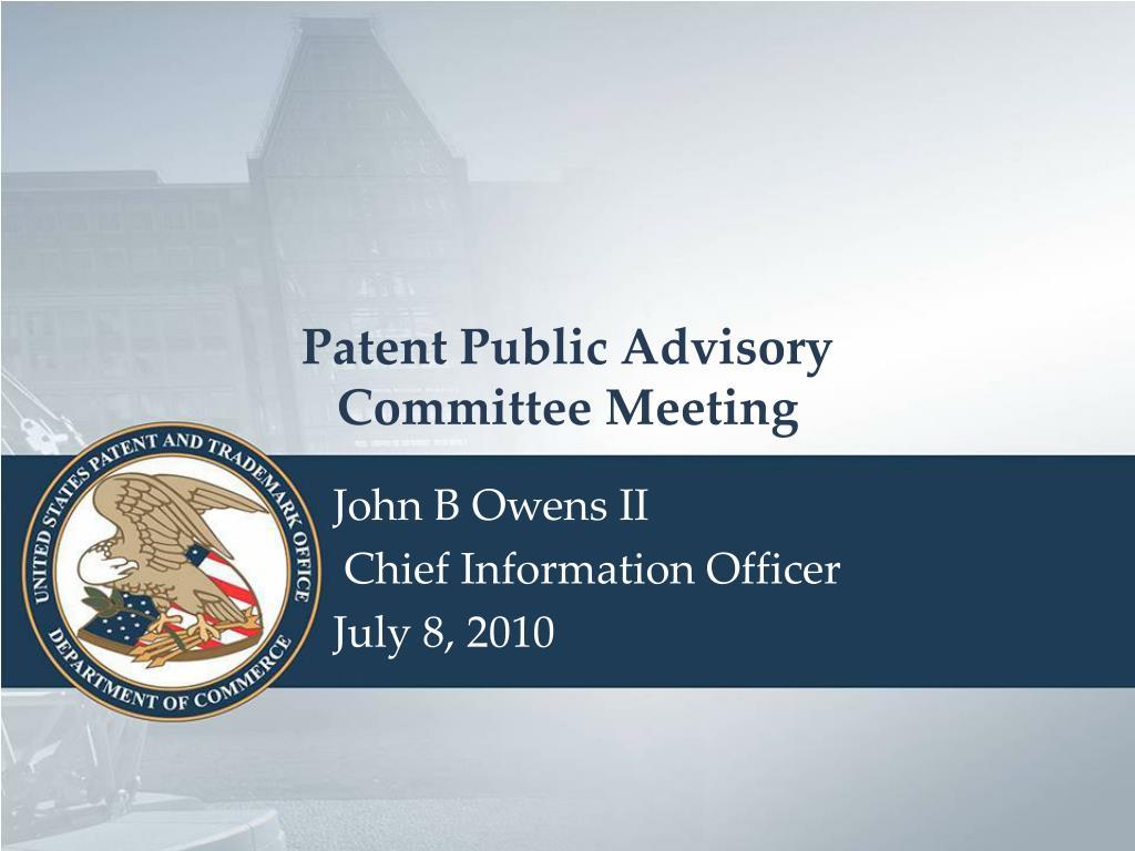 Patent Public Advisory