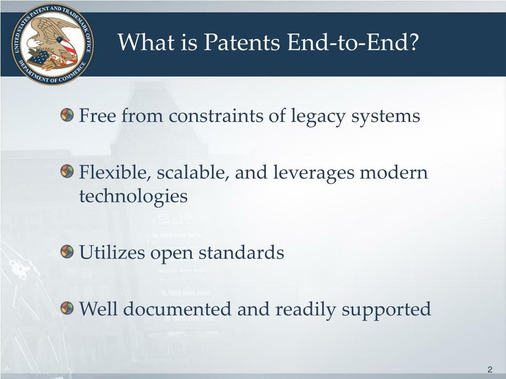 What is Patents End-to-End?