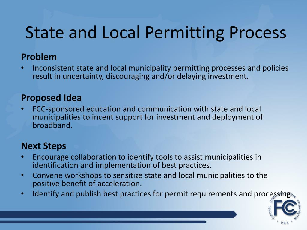 State and Local Permitting Process