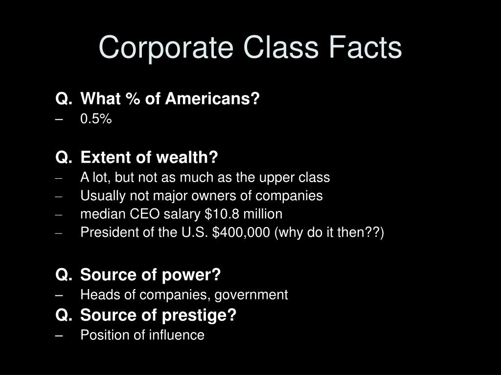 Corporate Class Facts