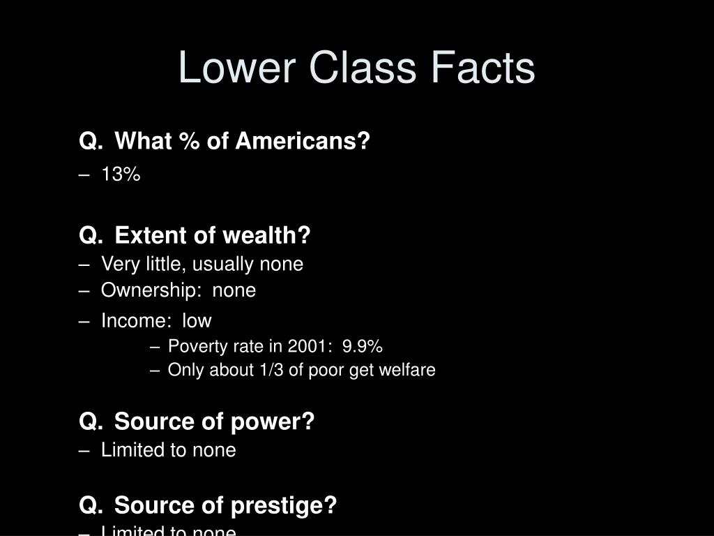 Lower Class Facts