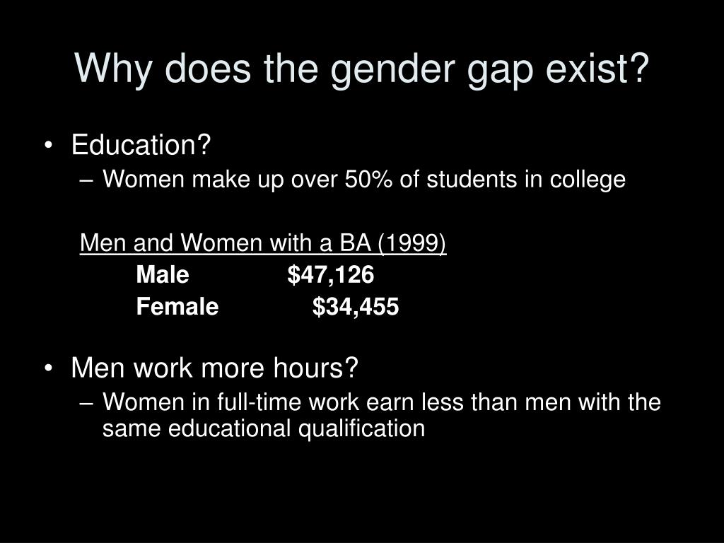 Why does the gender gap exist?