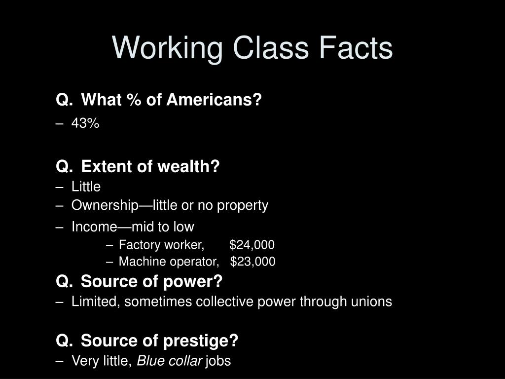 Working Class Facts
