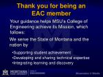thank you for being an eac member