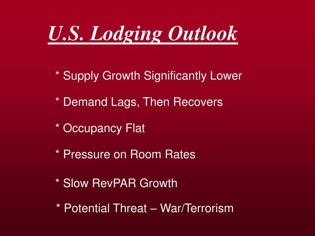 U.S. Lodging Outlook