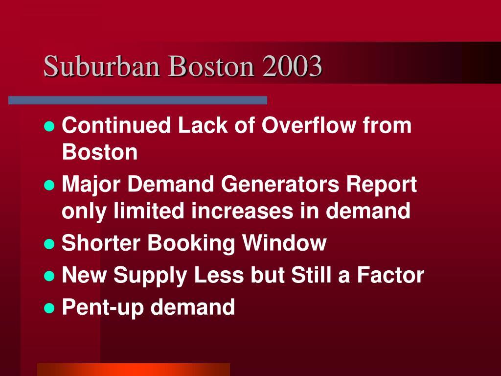 Suburban Boston 2003