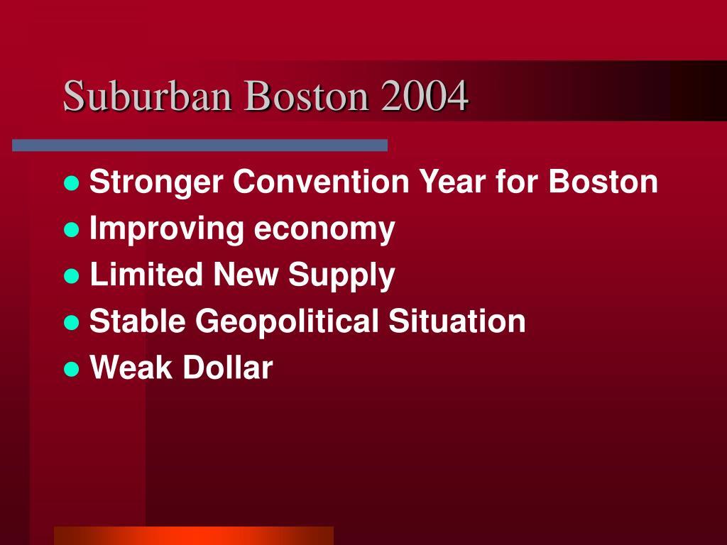 Suburban Boston 2004