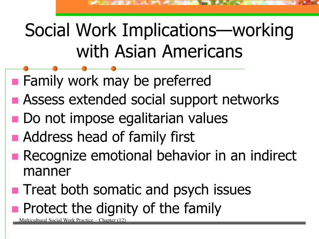 Social Work Implications—working with Asian Americans