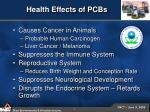 health effects of pcbs