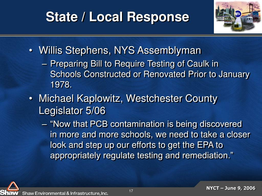 State / Local Response