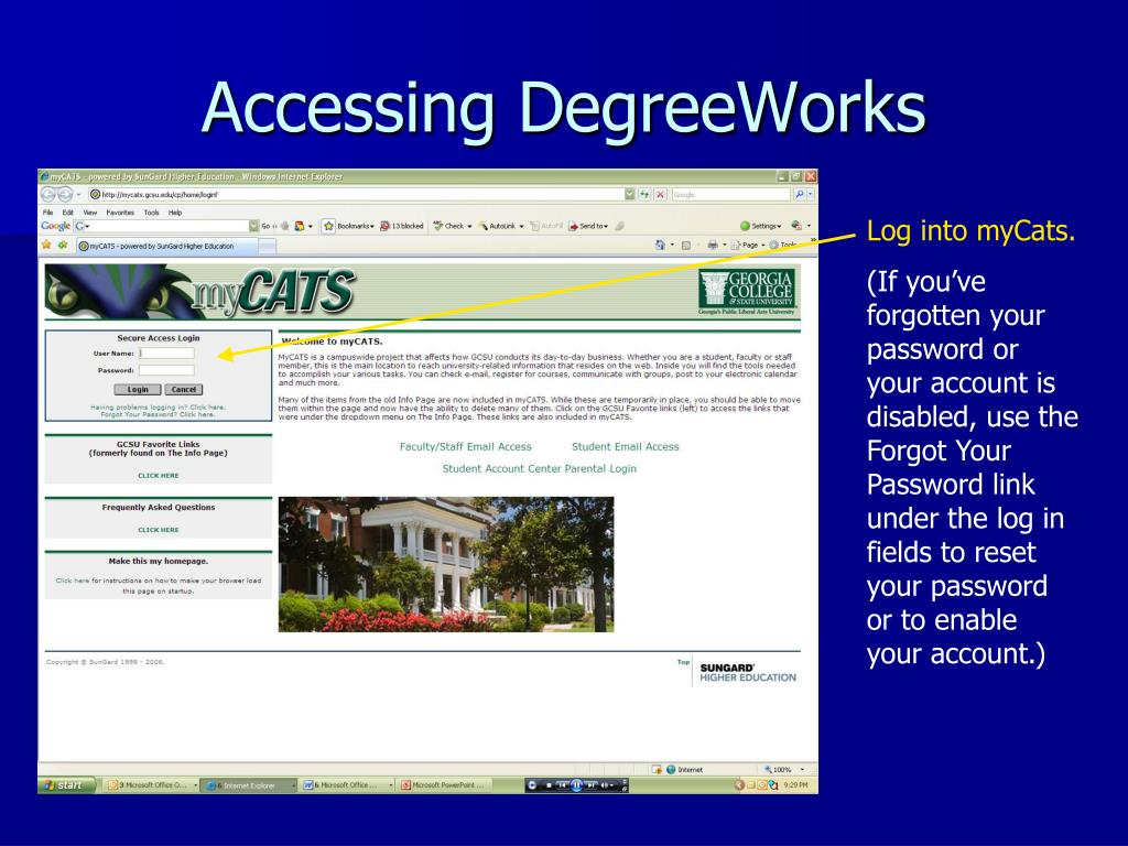 Accessing DegreeWorks