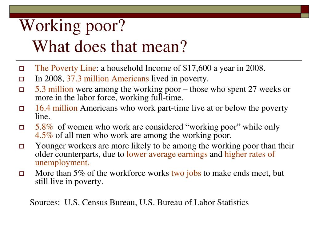 Working poor?