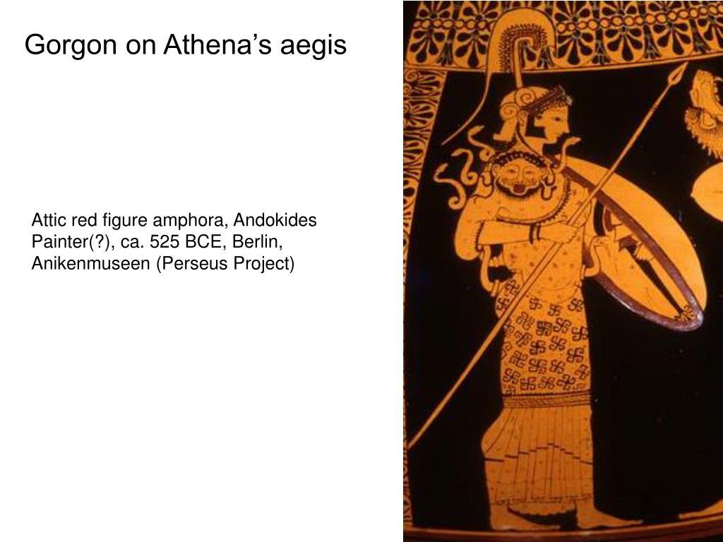 Gorgon on Athena's aegis