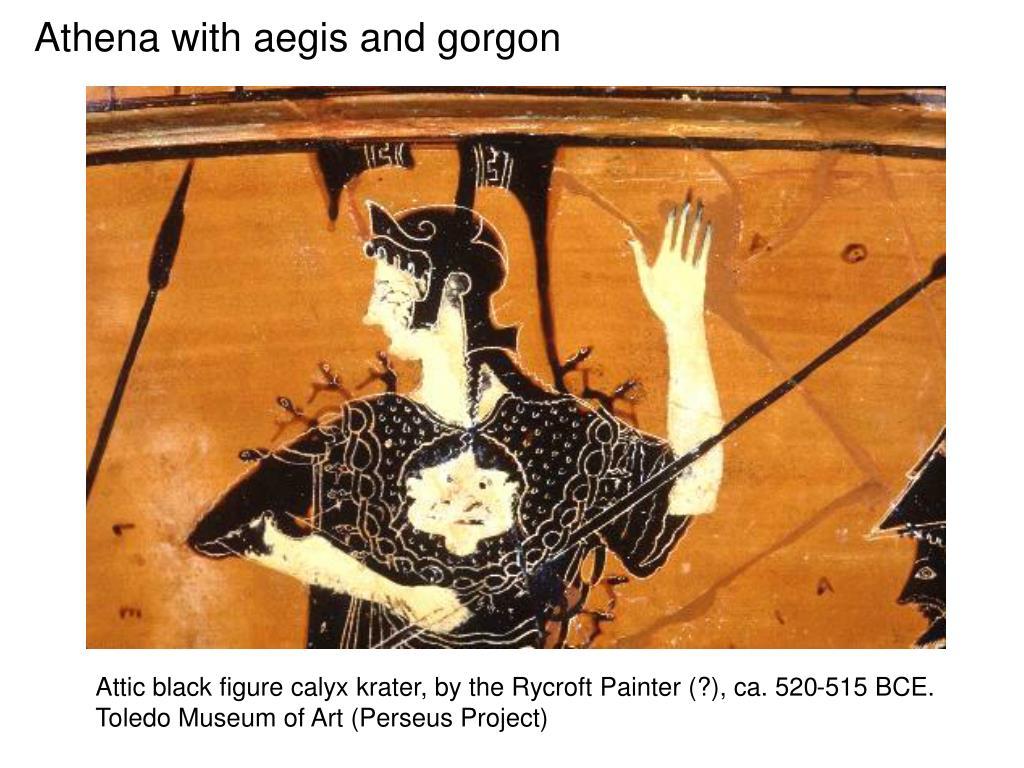 Athena with aegis and gorgon