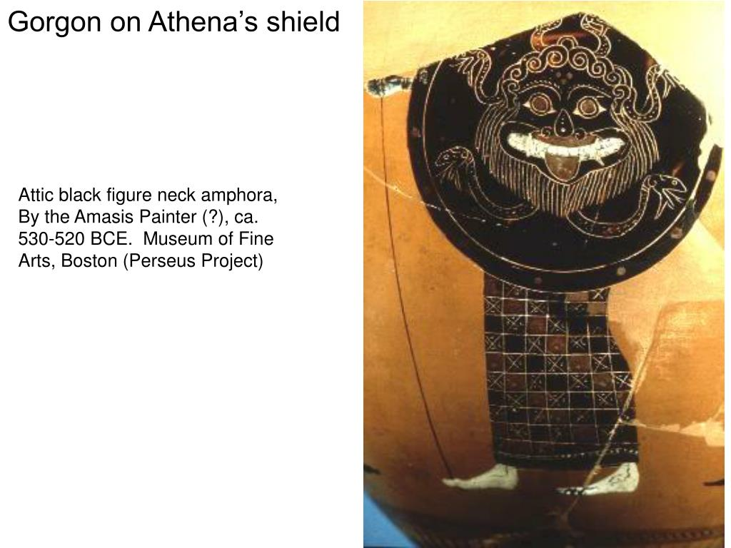 Gorgon on Athena's shield
