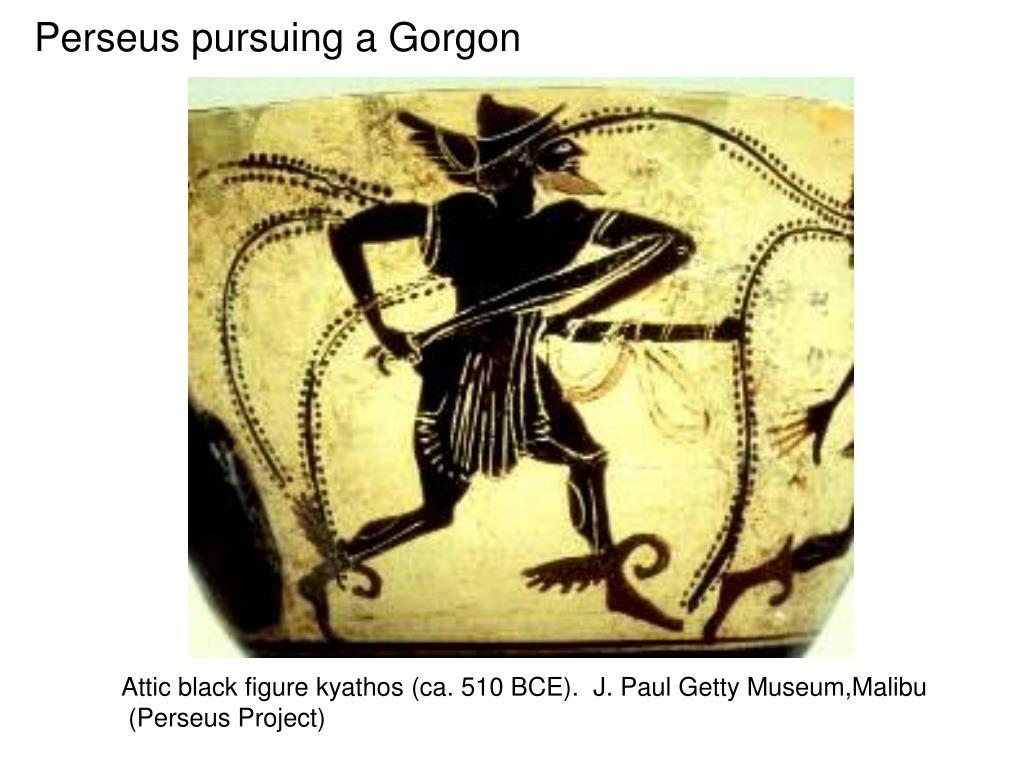 Perseus pursuing a Gorgon