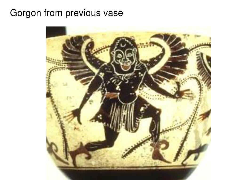 Gorgon from previous vase
