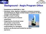 background aegis program office