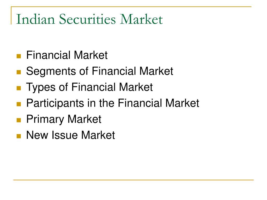 Indian Securities Market