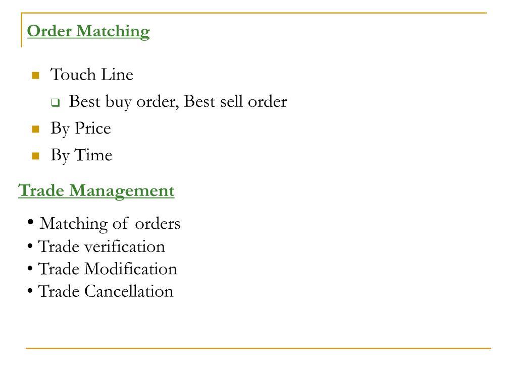 Order Matching