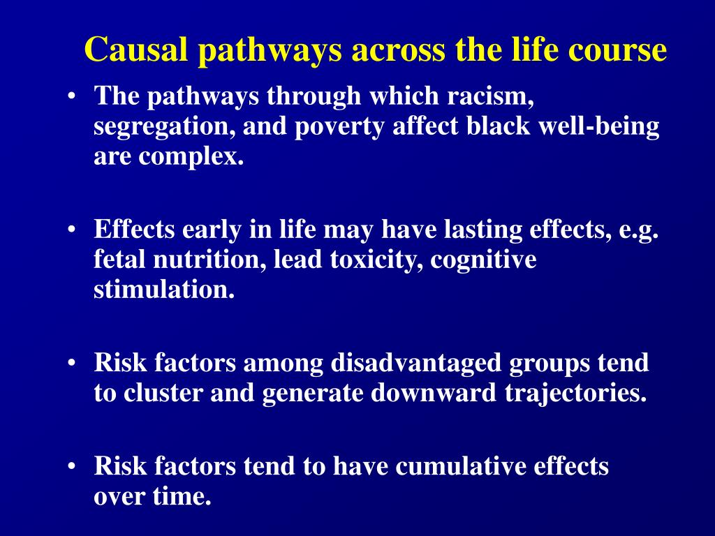 Causal pathways across the life course