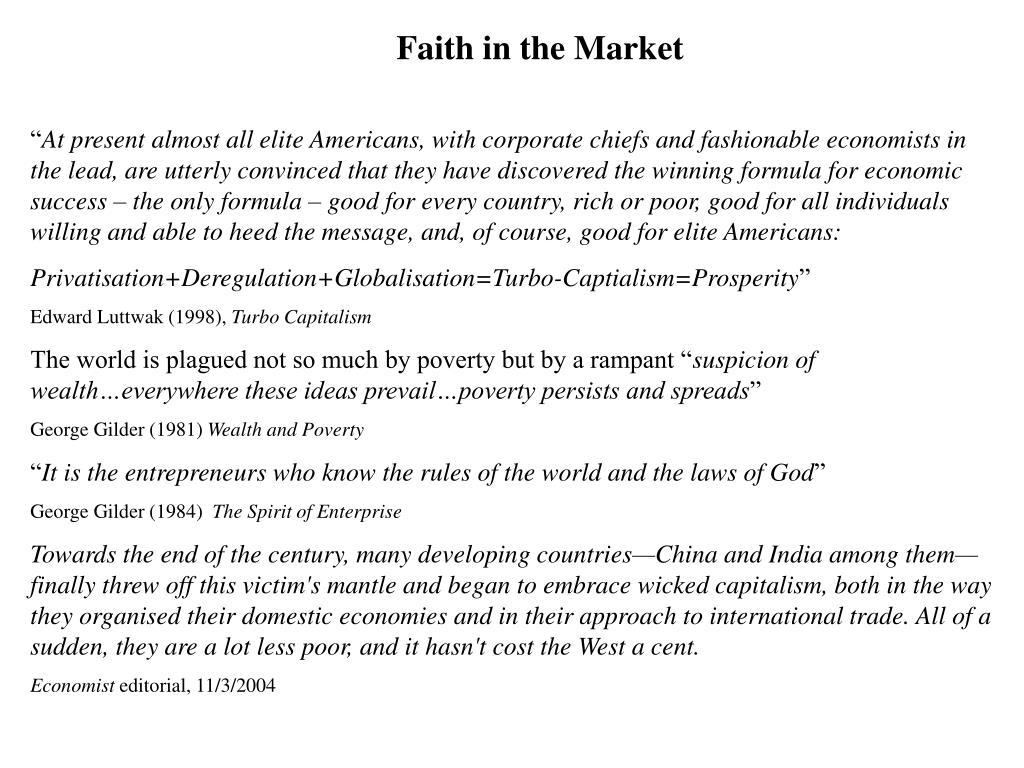 Faith in the Market