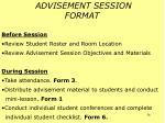 advisement session format