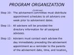 program organization continued43