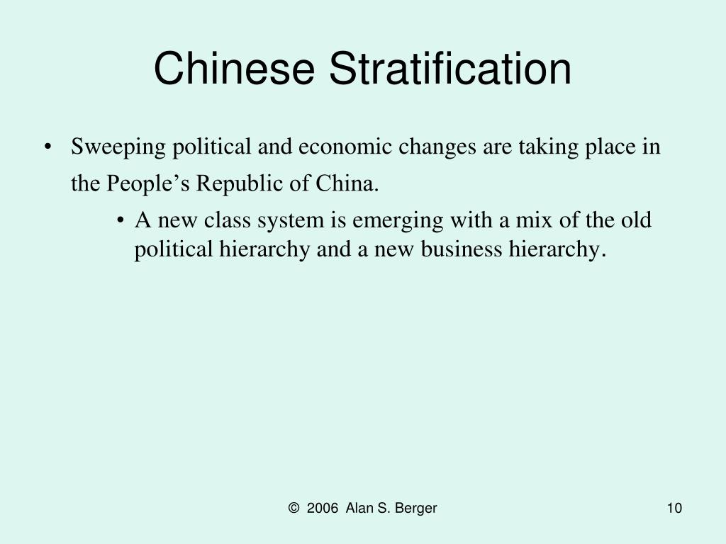 Chinese Stratification