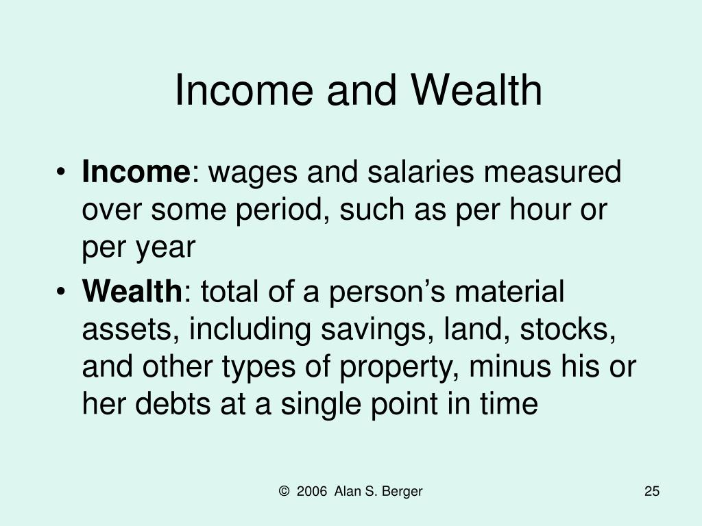 Income and Wealth
