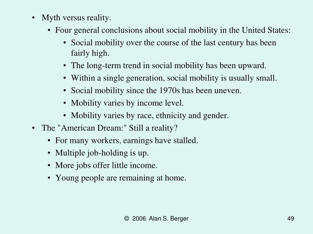 Myth versus reality.