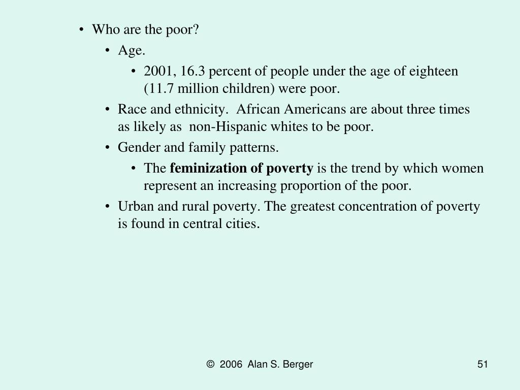 Who are the poor?