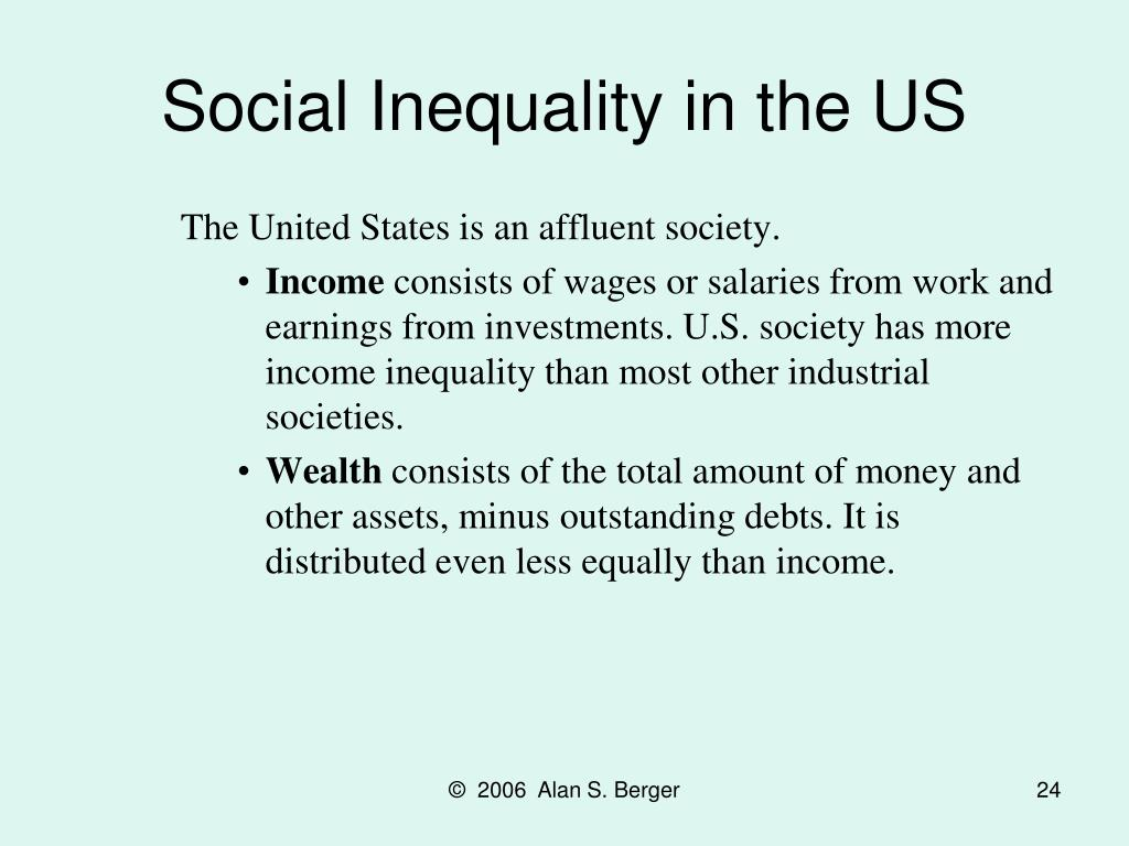 Social Inequality in the US
